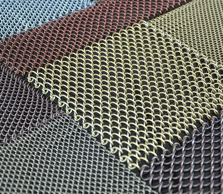 Hotel Decor Flexible Metal Mesh Screen Curtains Metal Coil Drapery Curtain